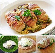 Cheesy Bacon Pesto Chicken Breasts Recipe