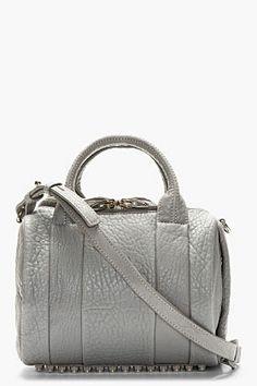 Alexander Wang Grey Shrunken Lambskin Rockie Handbag for women   SSENSE