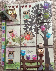 Hoot-Hoot for Owls Pocket Letter...made for an event. This is PL #13 and sent to Laurie in NY. I hope she likes it. April, 22, 2016