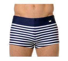 Bañador para hombre de la marca HOM. Prenda de baño CORTO Y AJUSTADO, ideal tanto para la playa como para la piscina. OFERTA. Shorty de baño mod. Yatch color navy. http://www.varelaintimo.com/78-banadores
