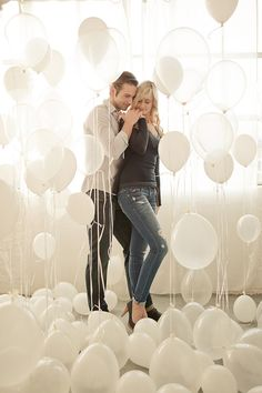 couple baloons- maybe engagement pic