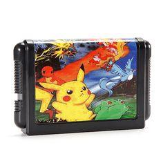 Cartuchos de juego de 16 bits pokemon generation for sega md2 game console
