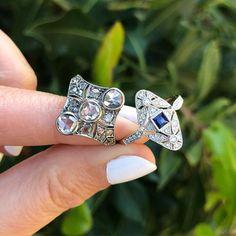 Gem Breakfast - One-Of-A-Kind Rings & Custom Fine Jewelry Jewelry Rings, Fine Jewelry, Right Hand Rings, Diamond Are A Girls Best Friend, White Gold Diamonds, Diamond Rings, Engagement Rings, Gemstones, Breakfast