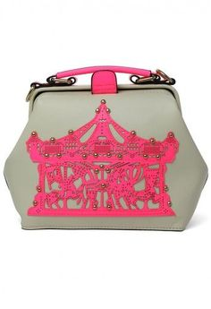 Merry-Go-Round Doctor Bag in Neon Pink
