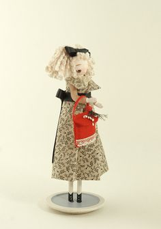 quirky japanese wooden peg doll via Flickr