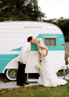 trailer wedding...Imagine a trailer park of old vintage trailers all done up cute... Different themes. Next to a hot tub!!!