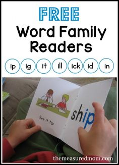 Free word family readers - these phonics books are great for kids just learning to sound out words!