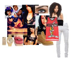 """""""Tomboy Tabitha"""" by urdreamgirl ❤ liked on Polyvore featuring Calvin Klein Underwear, Balmain, Timberland, Rolex, Moschino, Charlotte Tilbury and Casetify"""