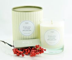 One of my favorite smells on earth. Can't get enough of it!!! D'Anjou Lychee Soy Candle by Kobo Candles