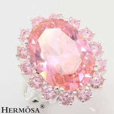75% OFF Pink Kunzite Topaz Jewelry 925 Sterling Silver PROM Ring Size 7 #Hermosa…