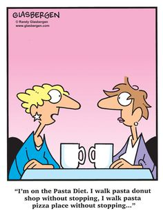 A diet for pasta lovers that really works! #humor #funny #weightloss | via @SparkPeople