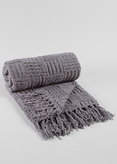 Woven Chenille Throw x - Matalan Living Room Update, Home Living Room, Living Room Decor, Matalan, Grey Bedding, Soft Furnishings, New Homes, Cushions, Blanket