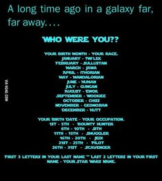 What's your Star Wars name? Twi'lek smuggler, Vuth