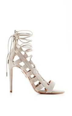 These Aquazurra lace up sandals are everything