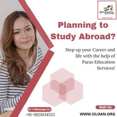 Paras education services is backbone of your financial support,choose us and let us guide you step by step in your dreams. For all your queries contact us on:- Visit our website and get yourself registered-www.isloan.org Email us on- info@isloan.org You Got This, Let It Be, Study Abroad, The Help, Dreaming Of You, How To Plan, Education, Life, Its Ok