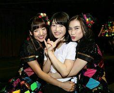 "Haruka Nakagawa & Melody JKT48 with Yui Yokoyama AKB48 in ""Ini Sahur"" Net TV program"
