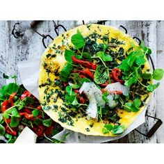 Silver beet omelette with capsicum salad recipe | FOOD TO LOVE
