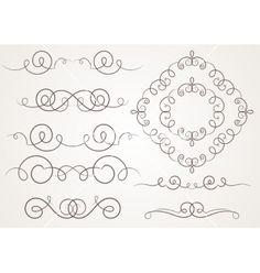 Calligraphic decorative elements vector. Vintage frame border by OlgaKozyrina on VectorStock®