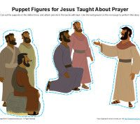 jesus-taught-about-prayer-puppet-figures