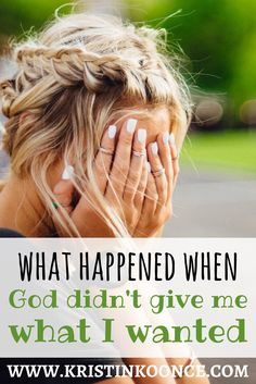 "Are you feeling discouraged? Does it seem like God forgot about you? God is always working in our lives and oftentimes, his ""no"" to our requests is actually an act of mercy. In this post, I talk about what happened when God didn't give me what I wanted. Click through to be encouraged!"