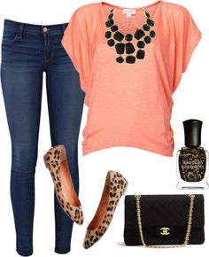 I love this mix!... minus the animal print shoes...