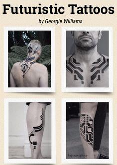 Futuristic Tattoos of Georgie Williams