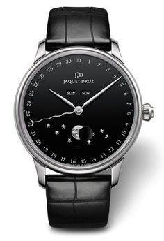 The Jaquet Droz Eclipse Onyx Watch.  We have this beautiful timepiece in our boutique.  Check this timepiece out at Tourbillon Boutique Beverly Hills.  329 N. Rodeo Drive, Beverly Hills.