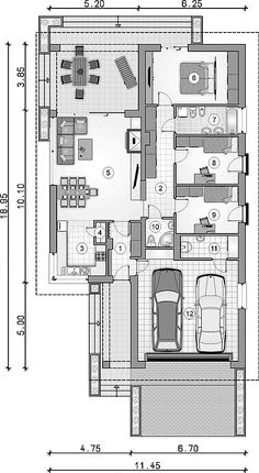 spiżarnia Dream House Plans, House Floor Plans, Best Home Plans, Plan Drawing, Modern House Design, Home Projects, Tiny House, Sweet Home, Flooring