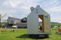 the architect spoke about the career-long dream of designing a micro-home after 'diogene' was installed on a hilltop site at the vitra campus.