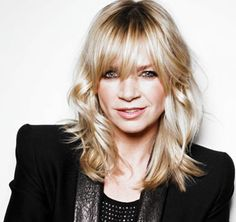 yay, Zoe Ball& hairstyle - call my hairdresser - fast! Ball Hairstyles, Hairstyles With Bangs, Blonde Hair With Fringe, Parted Bangs, Love Hair, Bad Hair, Hair Today, Hair Dos, Hair Lengths