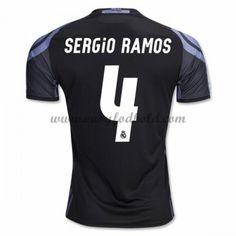 Fodboldtrøjer La Liga Real Madrid 2016-17 Sergio Ramos 4 3. Trøje