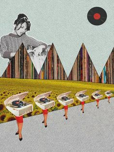 "Saatchi Art Artist Jaume Serra Cantallops; Collage, ""Record-s. Limited Edition Print 5 of 20"" #art"