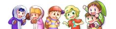 Ness as Popo, Lucas as Nana, Villager as Ness, Toon Link as Villager, Nana as Toon Link and Popo as Lucas.