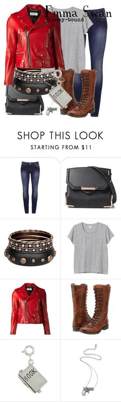 """""""Emma Swan"""" by disney-bound ❤ liked on Polyvore featuring Alexander Wang, Monki, Yves Saint Laurent, Bed