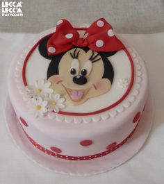 Minnie Mouse - Fondant & Co. Creative Birthday Cakes, Adult Birthday Cakes, Minnie Birthday, Valentine Cookies, Cupcake Cookies, Cupcakes, Mickey Cakes, Mickey Mouse Cake, Bolo Minnie