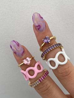 Nail Jewelry, Cute Jewelry, Jewelery, Jewelry Accessories, Funky Nails, Cute Nails, Pretty Nails, Acylic Nails, Nail Ring