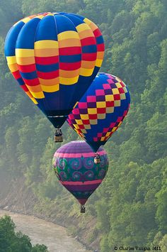 Balloons over Letchworth by Charles Vaughn, via Flickr