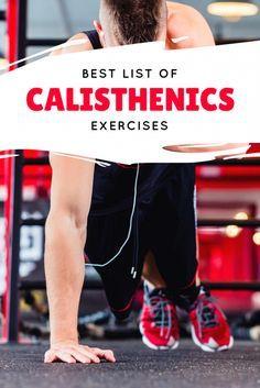 The Best List Of Calisthenics Exercises