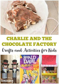 These Charlie and the Chocolate Factory craft ideas and activities are perfect for a unit based on this classic children's book! Check out this list of Charlie and the Chocolate Factory crafts and Willy Wonka activities for kids! Chocolate Crafts, Chocolate Decorations, Chocolate Art, Chocolate Week, Chocolate Bowls, Charlie And The Chocolate Factory Crafts, Wonka Chocolate Factory, Chocolates, Fun Activities For Kids