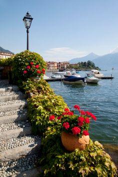 Town and lakeside, Menaggio, Lake Como, Lombardy, Italian Lakes, Italy, Europe