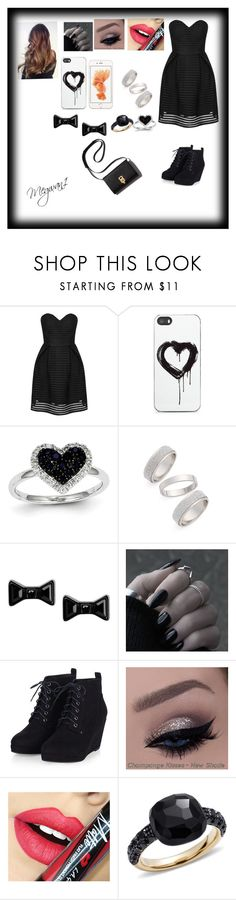 """""""Night out """" by megwan1 on Polyvore featuring Glamorous, Zero Gravity, Kevin Jewelers, Topshop, Marc by Marc Jacobs, Fiebiger and Pomellato"""