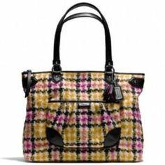 Coach Handbags - *NWOT* Coach Daisy Wool Multicolor Tote