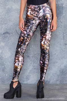 ffbdb0d0e3df8 Goblins High Waisted Velvet Leggings - 48HR ( 85AUD) by BlackMilk Clothing