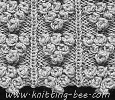 Knitting Yarn Over First Stitch : beautiful Flower Knitting Stitch Patterns Pinterest Beautiful flowers a...