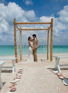 Wedding Ceremony Beach Shells Wed In Paradise Sandals Chuppah