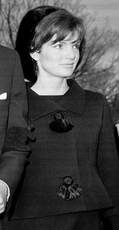 November 10, 1962: Jackie at Eleanor Roosevelt's funeral.