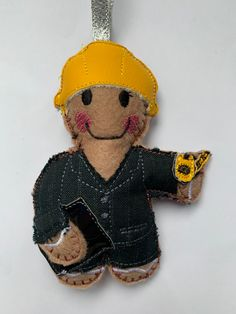 Super cute this Female Interior Designer Gingerbread man has just been added to my website . #interiordesigner Gingerbread Man Decorations, Gingerbread Ornaments, Christmas Ornaments, Unique Gifts, Super Cute, Teddy Bear, Colours, Website, Interior Design