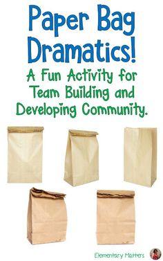 Paper Bag Dramatics: A fun activity for Team Building and Developing Community. Here's an idea that can be used just about anywhere at any time. It encourages groups to solve problems, think creatively, and work as a team. Team Building Activities For Adults, Teamwork Activities, Drama Activities, Icebreaker Activities, Classroom Team Building Activities, Fun Activities At Work, Building Ideas, Office Team Building Games, Community Building Games