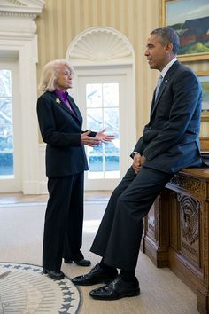 Edie Windsor Meets With Obama In The Oval Office