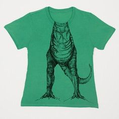 Dinosaur t-shirt. Kids head makes the dinosaurs body complete. Super cute! @Lynsey Bettencourt